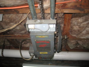 old residential garage door opener
